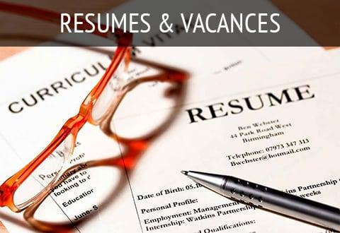 Resumes & Vacancies
