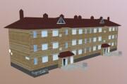 3D modeling of low poly buildings 4 - kwork.com