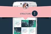 Template for instagram 5 - kwork.com