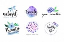 I Will Design Beautiful Hand Drawn Watercolor Logotype 5 - kwork.com