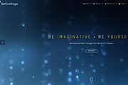 Premium WordPress Be One Page template 12 - kwork.com