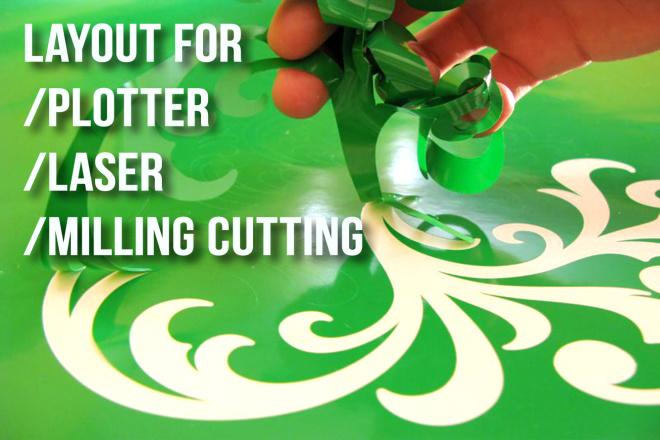Vector layout plotter, laser, milling cutting 1 - kwork.com