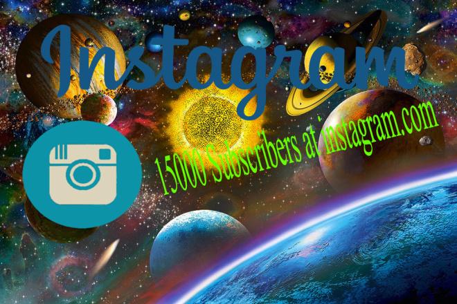 15000 instagram subscribers 1 - kwork.com