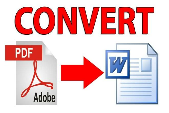 Pdf to doc file converting 1 - kwork.com