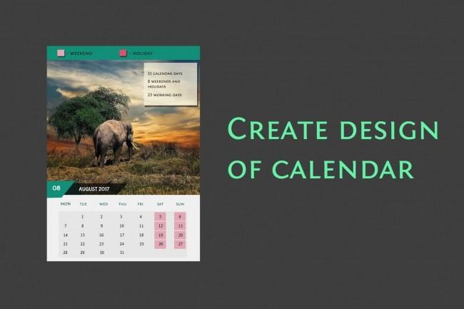I will create a calendar 1 - kwork.com
