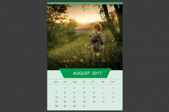 I will create a calendar 2 - kwork.com