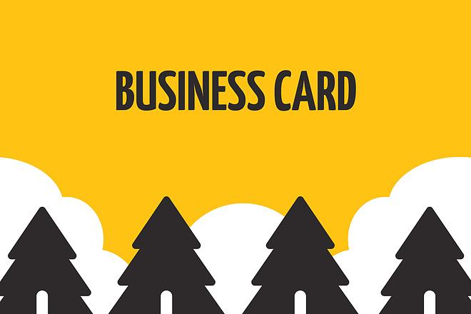 Create a business card design 1 - kwork.com