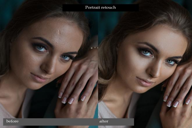 Portrait retouch 10 - kwork.com