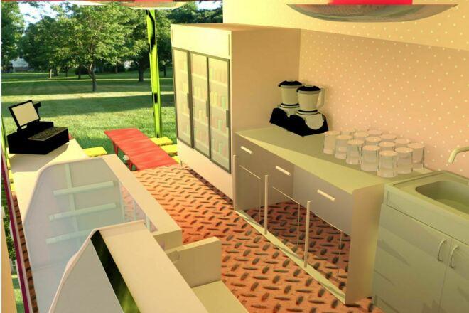 I will make an visual interior design concept 3 - kwork.com