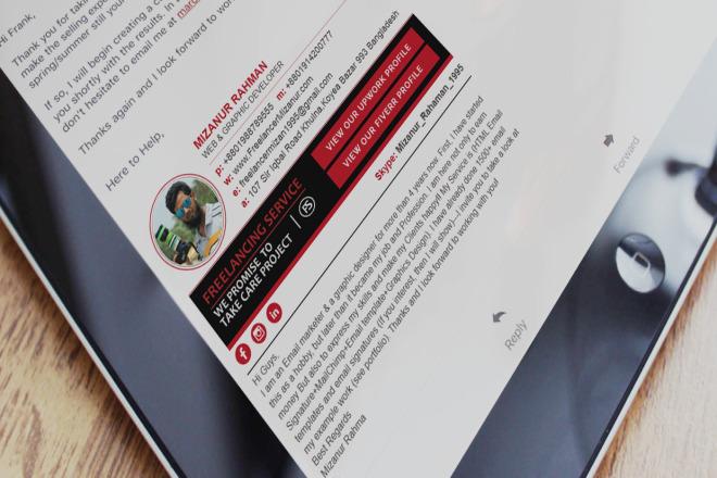 I will design Clickable email signature 1 - kwork.com