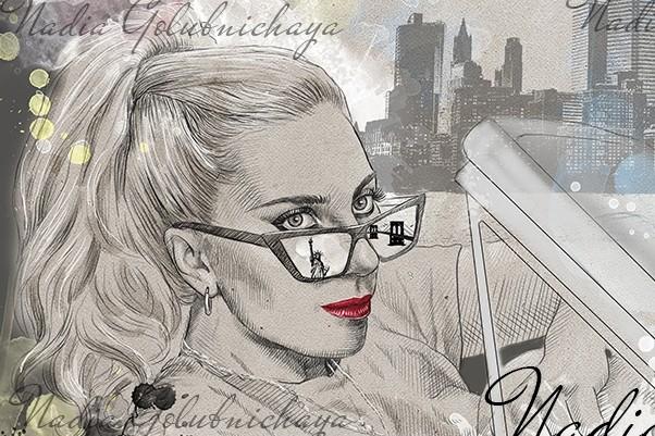 Portrait, pencil and watercolor 8 - kwork.com