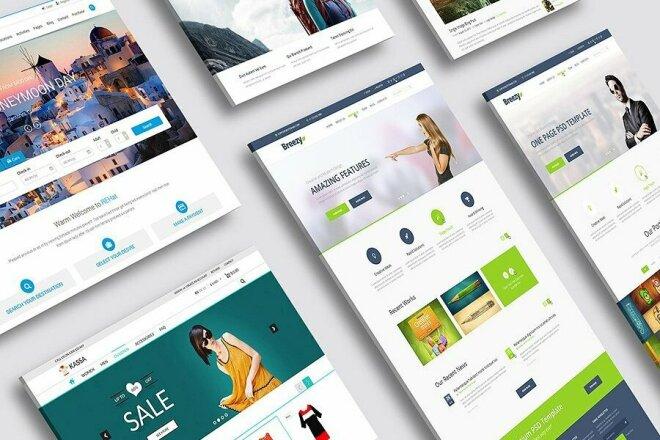 I will design high quality PSD Landing Page 6 - kwork.com