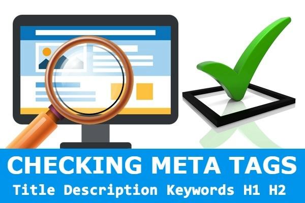 Checking meta tags Title, Description, Keywords. H1, H2 1 - kwork.com