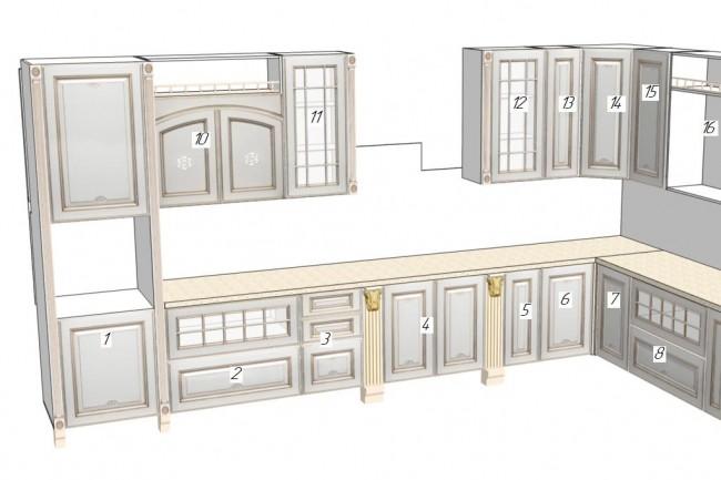 Project of furniture, kitchen. Visualization of furniture 5 - kwork.com