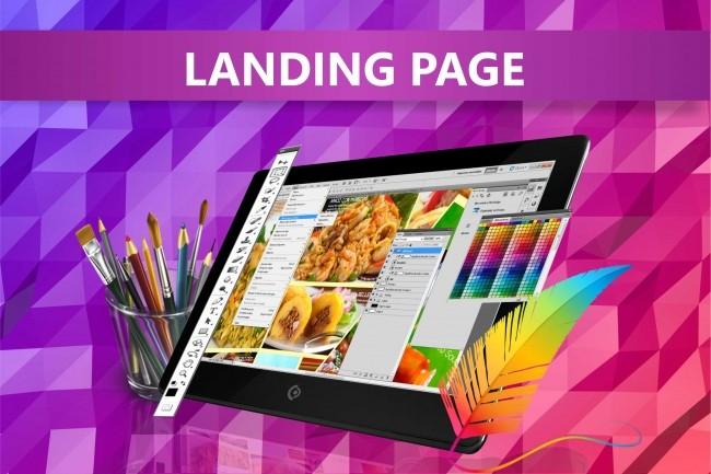 Bright unique prototype landing page design landing page 4 - kwork.com