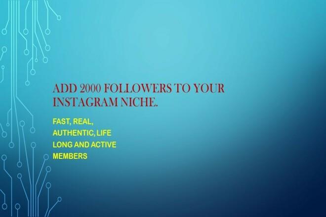 I will provide you 2k followers 1 - kwork.com