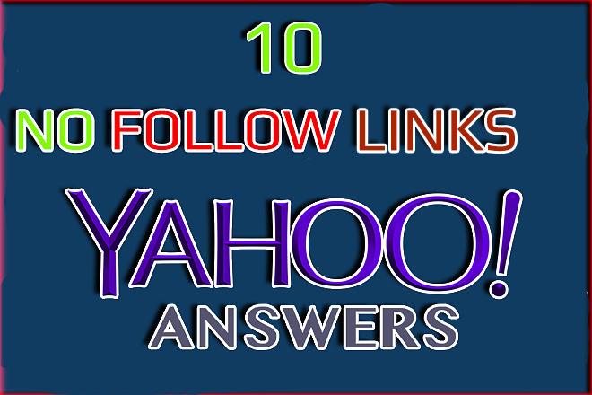Yahoo Answers. Backlinks from Yahoo.com No Follow 1 - kwork.com