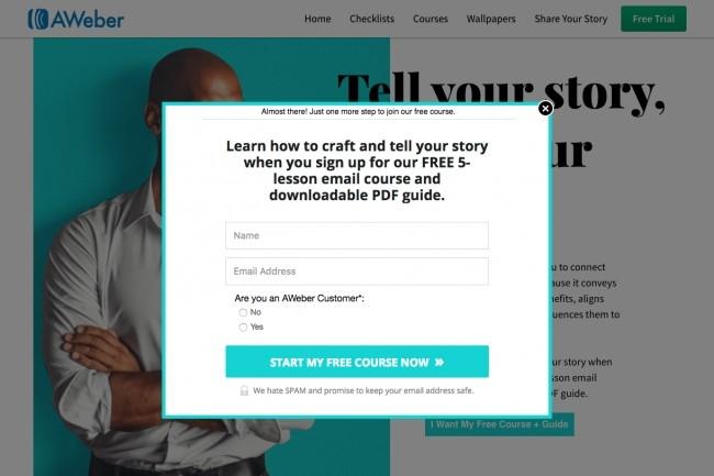 Aweber pop up subscribe form for your website 1 - kwork.com