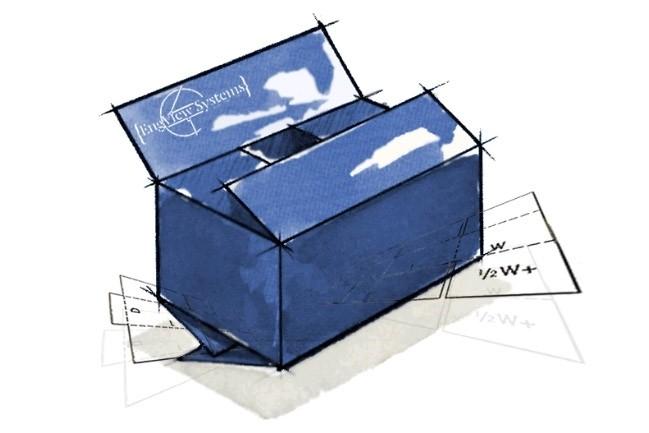 Packaging of cardboard or micro-corrugated cardboard 1 - kwork.com