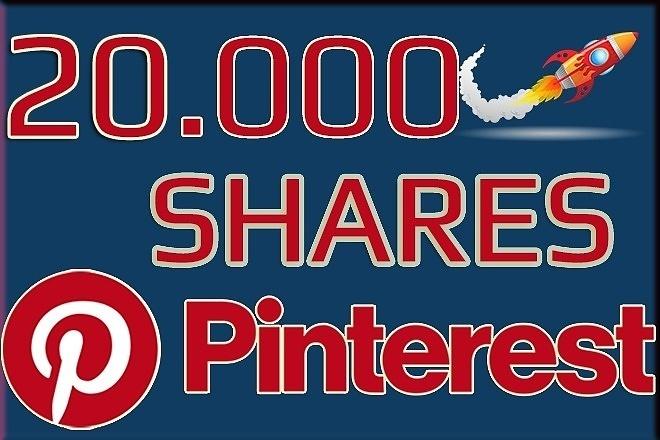 20000 Shares from Pinterest 1 - kwork.com