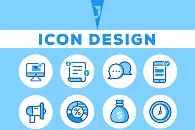 I will design 6 high quality flat icons 1 - kwork.com