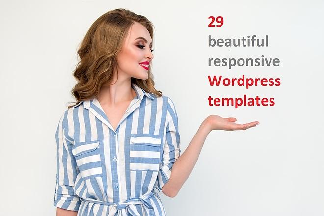 29 Cool responsive Wordpress templates 1 - kwork.com