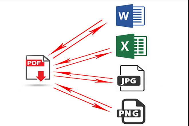 Convert PDF to word 1 - kwork.com