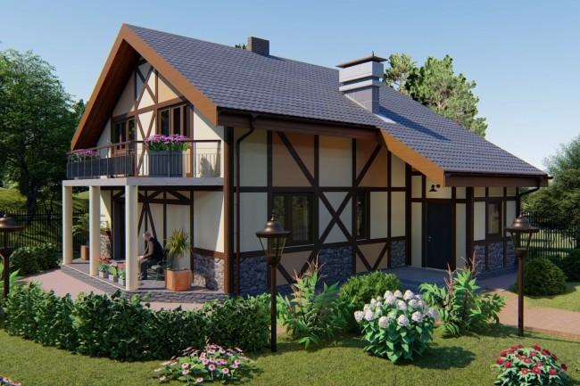 Preliminary design house, cottage project 1 - kwork.com