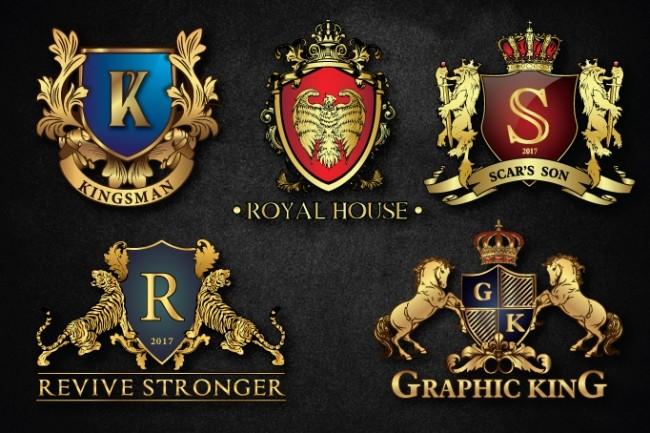 I Will Design Heraldic Luxury Logo 3 - kwork.com