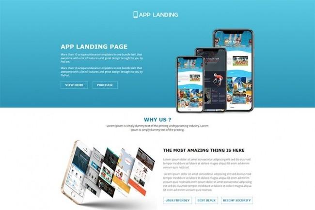 Landing Page. Full construction 1 - kwork.com