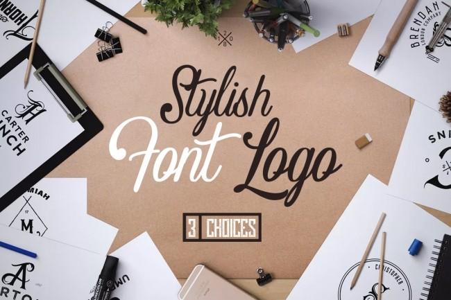 I will develop 3 stylish, font logo 6 - kwork.com