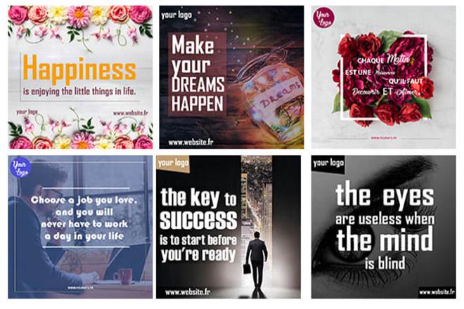 Create 15 Custom Social Quotes Memes Any Business Logo Url 4 - kwork.com