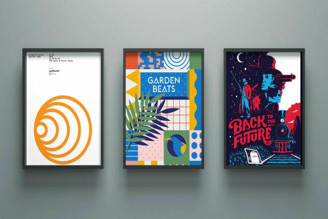 I can design any kind of poster in short time 1 - kwork.com