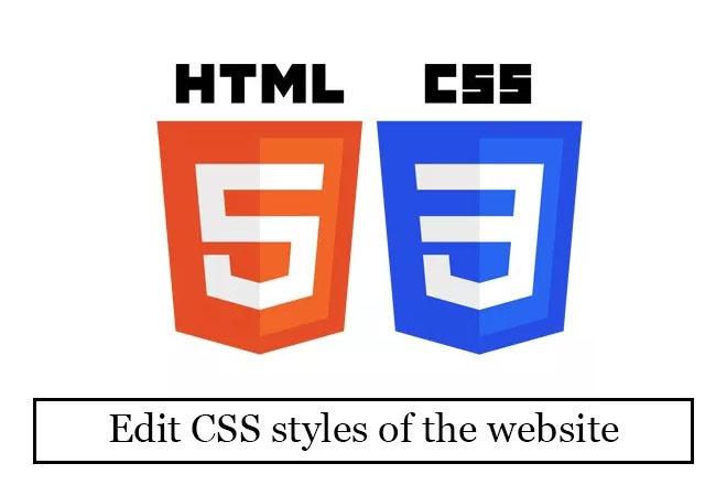 Edit CSS styles of the website 4 - kwork.com