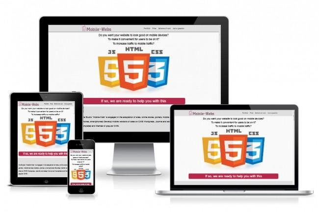 Website adaptation for mobile devices 1 - kwork.com