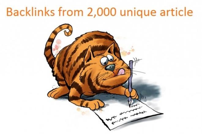 Get 2.000 Backlinks from Article Directories 1 - kwork.com