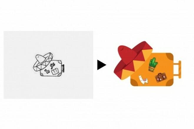 I redraw the logo into a vector 2 - kwork.com