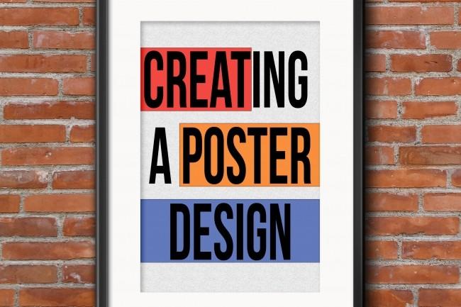 Poster design creation 1 - kwork.com