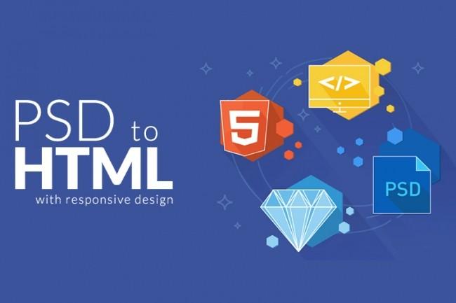 Convert psd to html 1 - kwork.com