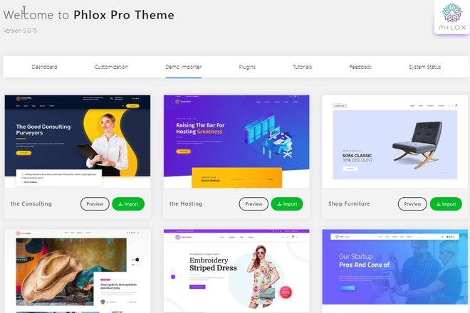 Phlox PRO Wordpress theme, Elementor, premium plugins, child, templates 2 - kwork.com