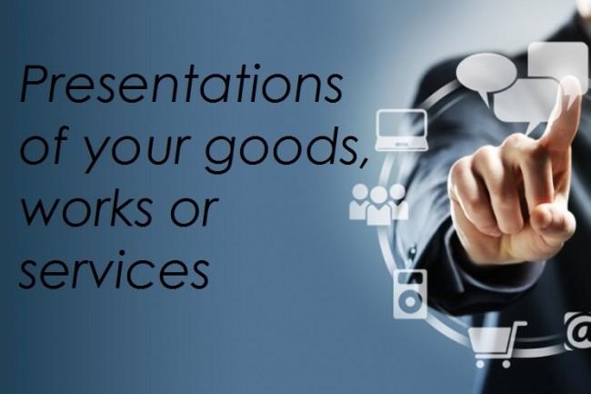 Making presentations of your goods, works or services 1 - kwork.com