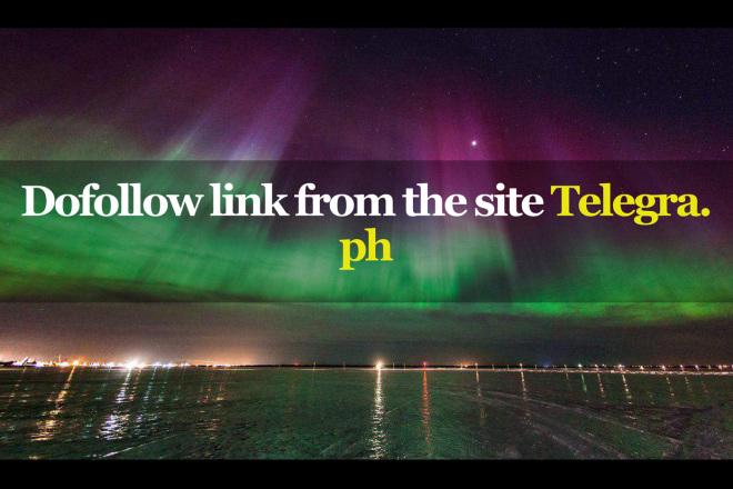 Dofollow link from the site Telegra. ph          1 - kwork.com