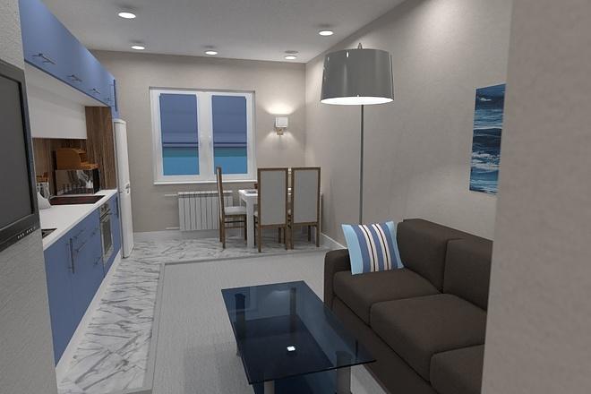 Express design. The interior of the room, apartment, house 1 - kwork.com