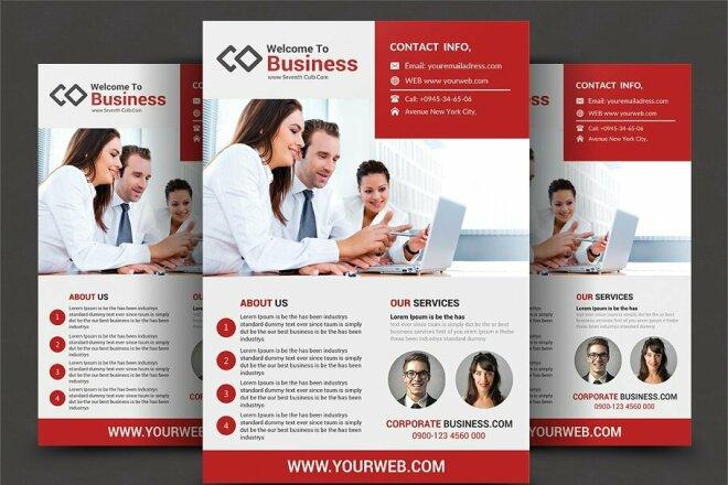 I will Design your Business FLYER 4 - kwork.com