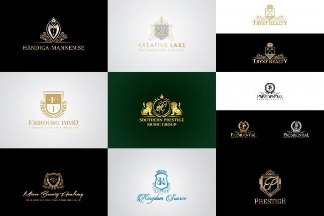 I will design 3 luxury heraldic logotype concepts 3 - kwork.com