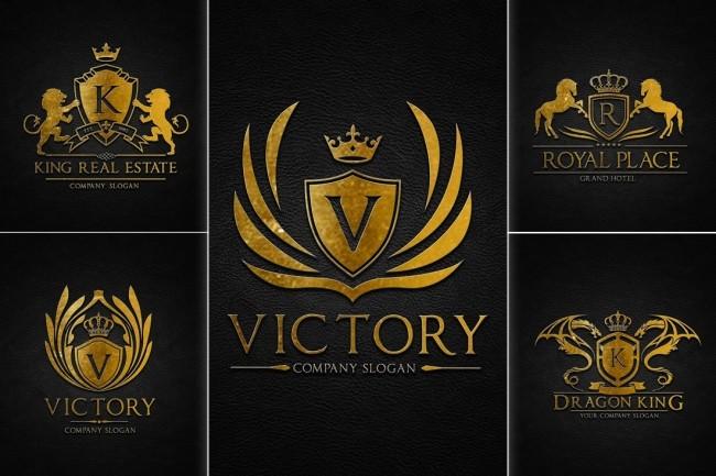 I will design 3 luxury heraldic logotype concepts 2 - kwork.com