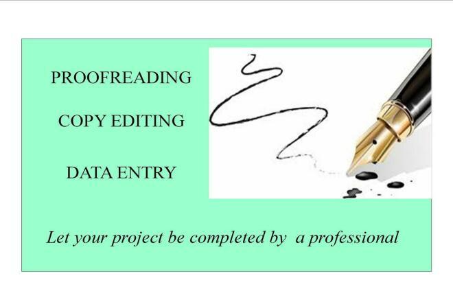 I do proofread, copyedit and data entry 1 - kwork.com