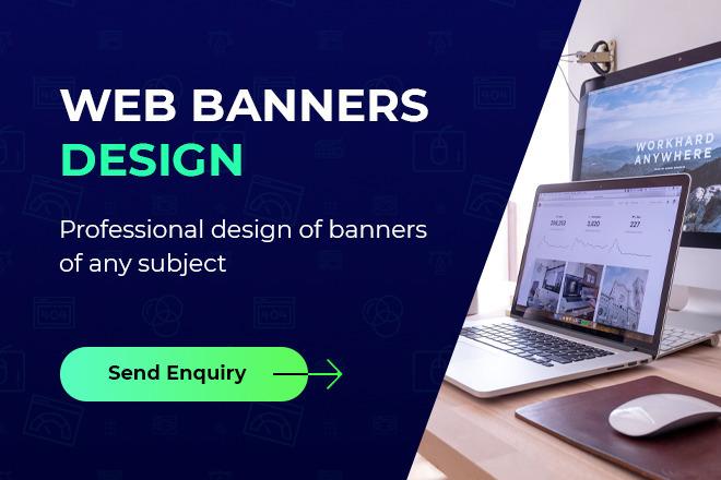 Web banners design 1 - kwork.com