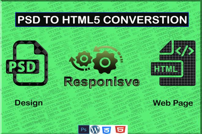 I will convert psd to html responsive 4 - kwork.com