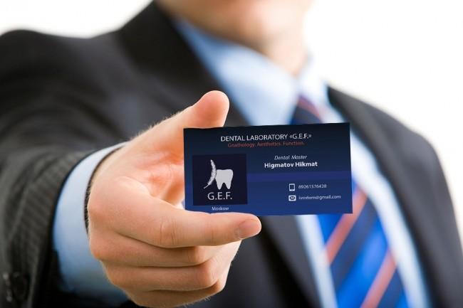 Design professional business card 2 - kwork.com